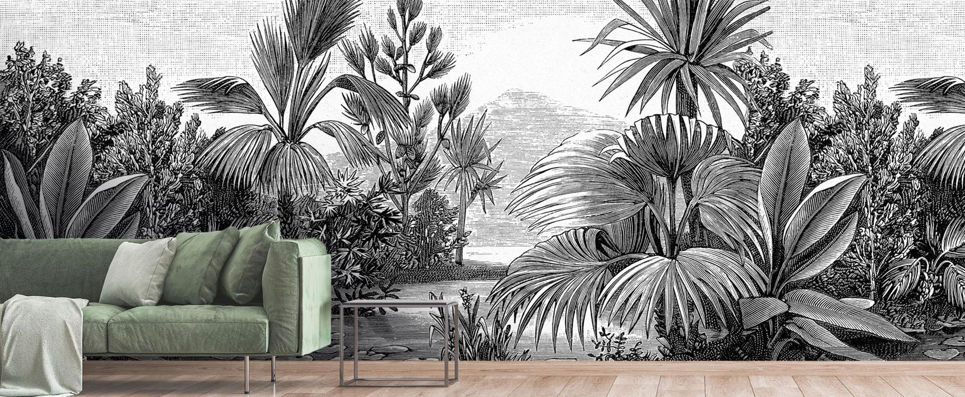 La jungle aux milles détails en noir et blanc !